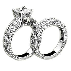 PRINCESS DIAMOND ENGAGEMENT RING SET
