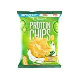 Quest Nutrition Protein Chips, Sour Cream & Onion, 21g Protein, 3g Net Carbs, 130 Cals, Low Carb, Gluten Free, Soy Free, Potato Free, Baked, 1.125oz Bag, 8 Count, Packaging May Vary