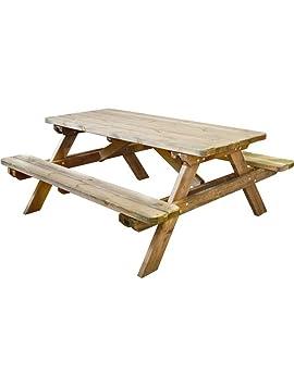 Burger 100492 Robuste Tables de Pique-Nique 184 x 74 x 17 cm