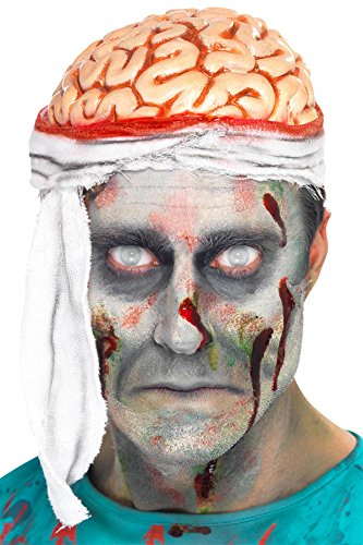 Smiffy's Men's Bandage Brain Hat, Multi, One Size - 1