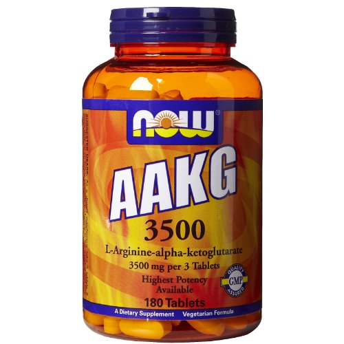 Now Foods AAKG 3500 - 180 Tabs Pack 4