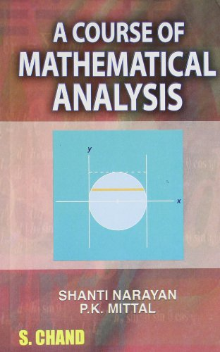 Large book cover: A Course Of Mathematical Analysis