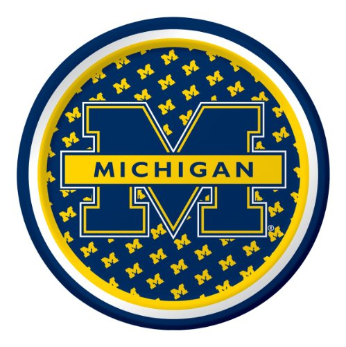 Creative Converting Michigan Wolverines Dessert Paper Plates (8 Count)