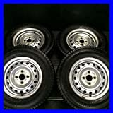 【中古スタッドレスタイヤ】【送料無料】4本セット ブリヂストン ブリザック VL1 165R13 6PR /   スチールホイール 13x5.0  100-4穴  プロボックスに! 中古タイヤ W13160824046