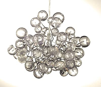 Transparent Bubbles Lightshade - Handmade Chandelier Ceiling Light for Bedroom, Living Room, Hall or Office lighting - Unique Light Fixtures - Great Gift Ideas- Office Decorations