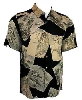 Citron Silk Fukure, Black Vintage Shirt - Pattern Blocks