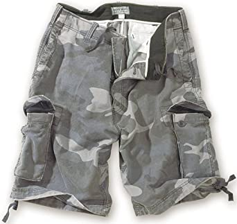 Surplus Homme cargo VINTAGE SHORTS WASHED , Size S, Color nightcamo