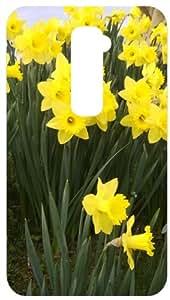 Daffodils White Back Cover Case for LG Optimus G2