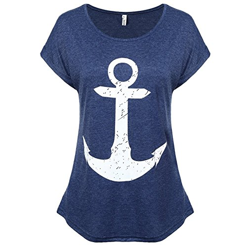 funoc-womens-boat-anchor-printing-summer-short-sleeve-t-shirt-blouse-tank-topsnavy-blue-medium