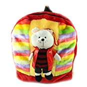 Tickles Multicolour Handsome Teddy Shoulder Bag Stuffed Soft Plush Toy Love Girl 36 Cm
