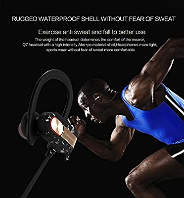 UKINDA Wireless Bluetooth Headphones, Bluetooth 4.1 Sweatproof Sport Earphones In-Ear Noise Cancelling Earbuds Headsets for Running, Hiking, Jogging, Cycling, Gym, Exercising, Workout -8 hrs Playtime