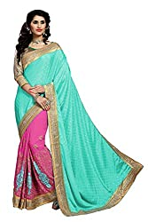 silvermoon women's chiffon embroidered free size fancy saree-sm_NMD2A219_blue_free size