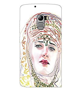 PrintDhaba Painted Girl D-5320 Back Case Cover for LENOVO K4 NOTE A7010a48 (Multi-Coloured)