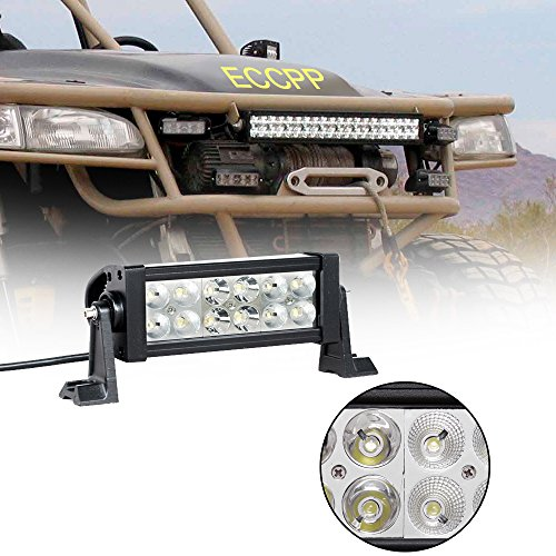 "Eccpp 7.5"" 36W Off Road Led Work Light Bar Auxiliary Driving Lamp Spot Beam For 4X4-Jeep Cabin/Ute/Suv/Atv/Truck/Car/Boat/Fishing Excavator/Engineering Vehicle/Mining Vehicle/Beach Car/Fire Truck/Rescue Vehicles/Police Car/Garden Square/Industrial Plant"