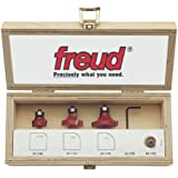 Freud 89-100 3-Piece Round Over and Beading Router Bit Set