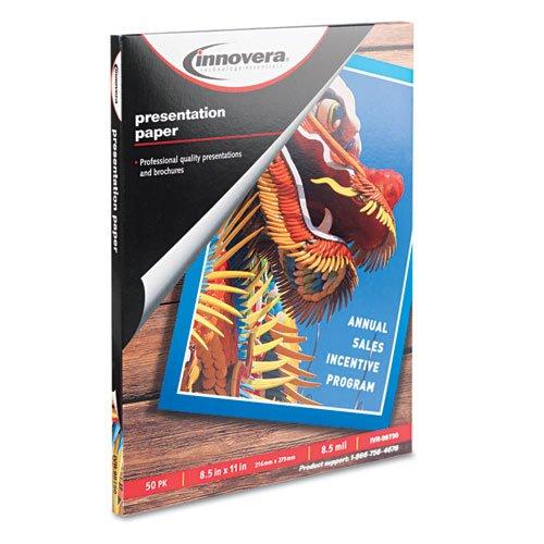 Innovera Presentation Paper, Matte, 8-1/2 x 11, 50 Sheets/Pack