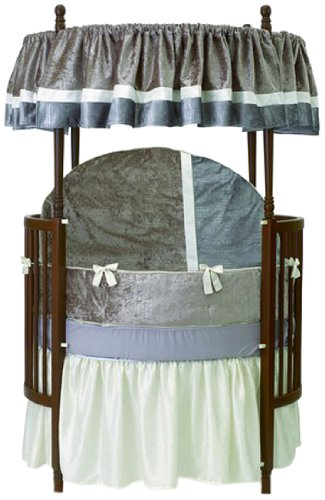 Baby Doll Round Crib Bedding Set, Olive, 8 Piece - 1