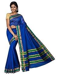 Korni Cotton Silk Banarasi Saree ISL-2561- Blue KR0426