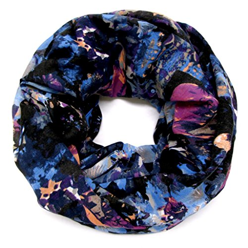 accessu-Echarpe-Foulard-pour-Femme-Floral-Watercolour-Design-in-bluepurple