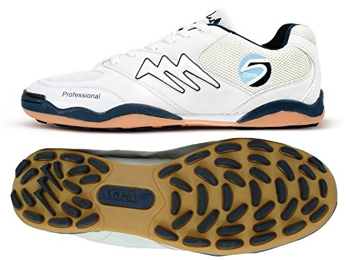 AGLA PROFESSIONAL TIME SLIM OUTDOOR white/blue scarpe calcetto calcio 5 futsal (EUR 37)