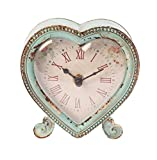 Sass & Belle Boudoir Heart Clock, Duck Egg/ Pink