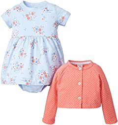 Carter\'s 2 Piece Print Dress Set (Baby) - Blue -9 Months