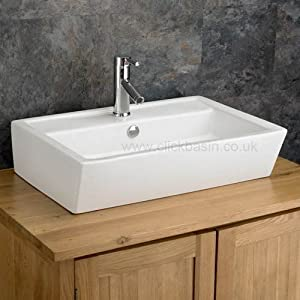 Wash Basin For Kitchen : ... Ceramic Modern Wash Basin Sink: Amazon.co.uk: Kitchen & Home