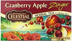 Celestial Seasonings Cranberry Apple Zinger Tea, 20 Count (Pack of 6)