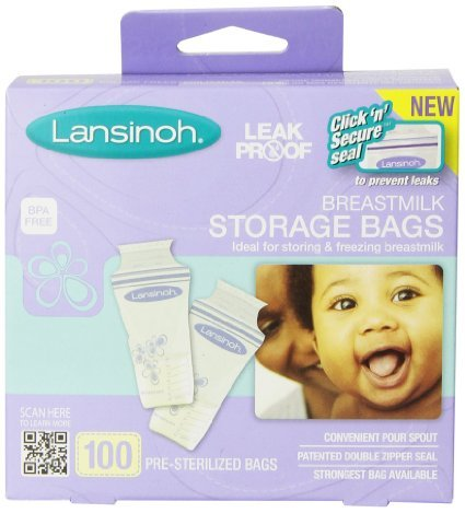 Breastmilk Storage Bags - 100 Count by Lansinoh  цена и фото