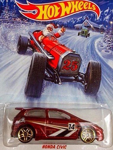 HOT WHEELS 2014 HOLIDAY HOT RODS SERIES HONDA CIVIC EXCLUSIVE DIE-CAST - 1