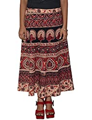 Gurukripa Shopee Women's Cotton Wrap-around Skirt (Multicolor) - B01I1DBQRI