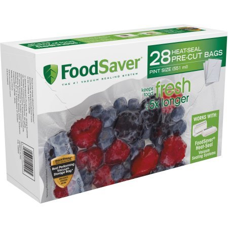 FoodSaver Pint-Size Multi-ply Heat-Seal Bags, 28 Count (Foodsaver Vacuum Bags Pint Size compare prices)