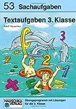Textaufgaben 3. Klasse: Sachaufgaben - Übungsprogramm mit Lösungen für die 3. Klasse title=