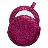 All that Glitters Handbag Mirror - Fuchsia