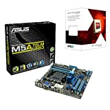 AMD 4 Core FX 4300 Quad 3.8Ghz (Turbo 4.0Ghz) Piledriver + Asus M5A78L-M Motherboard Bundle