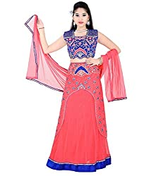 Mint Pink Girls Lehenga Choli