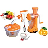 Paasapahce Manual Food Processor, Beater & Juicer Combo