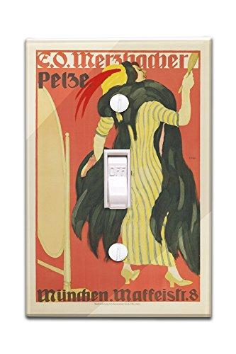 e-o-merzbacher-pelze-vintage-poster-artist-hofer-germany-c-1910-light-switchplate-cover