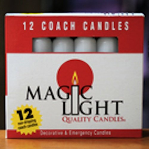 12 HOUSEHOLD TAPERED WHITE CANDLES 1 DOZEN (12)