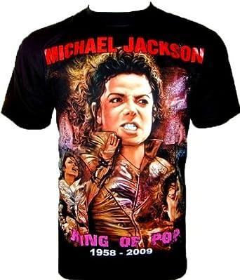 MICHAEL JACKSON 'King Of Pop' Fanshirt Noir Black (XXL)
