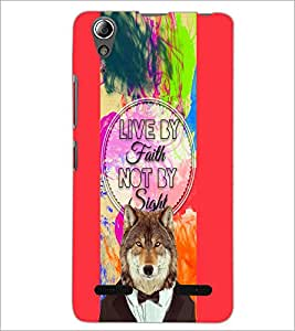 PrintDhaba Quote D-4720 Back Case Cover for LENOVO A6000 PLUS (Multi-Coloured)