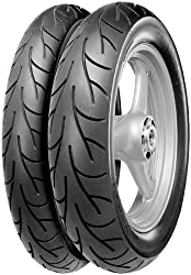 Continental Conti Go! Tire – Front – 100/90VB-19 , Position: Front, Tire Type: Street, Tire Construction: Bias, Tire Application: Touring, Load Rating: 57, Speed Rating: V, Tire Size: 100/90-19, Rim Size: 19 02400300000