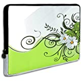 13 Inch Lovely Spring Daisy And Green Floral Garden Laptop Sleeve Notebook Carrying Case For Apple MacBook Air...