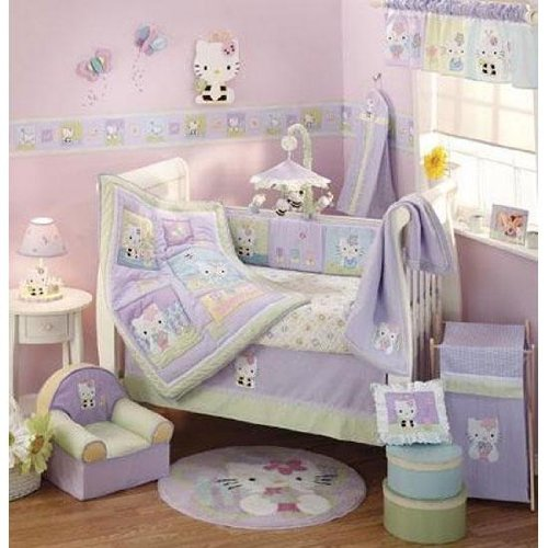 Hello Kitty and Friends 6-Piece Baby Crib Bedding Set