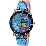 Super Drool Blue Abstract Wrist Watch