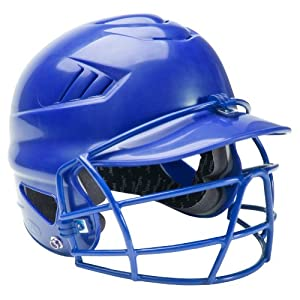 Rawlings CFBH Coolflo Batting Helmet with Softball Face Guard (Royal)