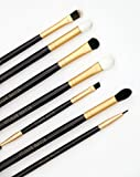 Eye Make Up Brushes Set Pro Eyeshadow Blending, Eyeliner, And Eyebrow Makeup Brush Kit. Crease, Shader, Angled Brow, Spoolie, Flat Shadow, And Winged Liner By Altair Beauty