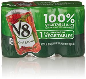 V8 Red Vegetable Juice, Original (6 Count, 5.5 Fl Oz Each)