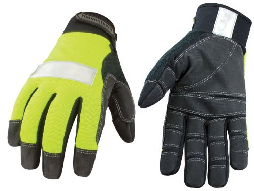 Youngstown Glove 08-3700-10-L Safety Lime Utility Glove Large