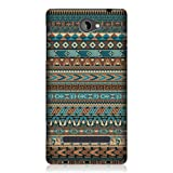 Head Case Designs Blue Amerindian Pattern Hard Back Case Cover for HTC Windows Phone 8S